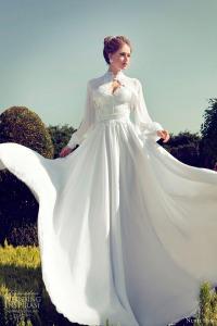 nurit-hen-wedding-dresses-2013-long-sleeve-bolero