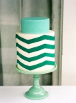 zig-zag-cake-teal-wedding-cake