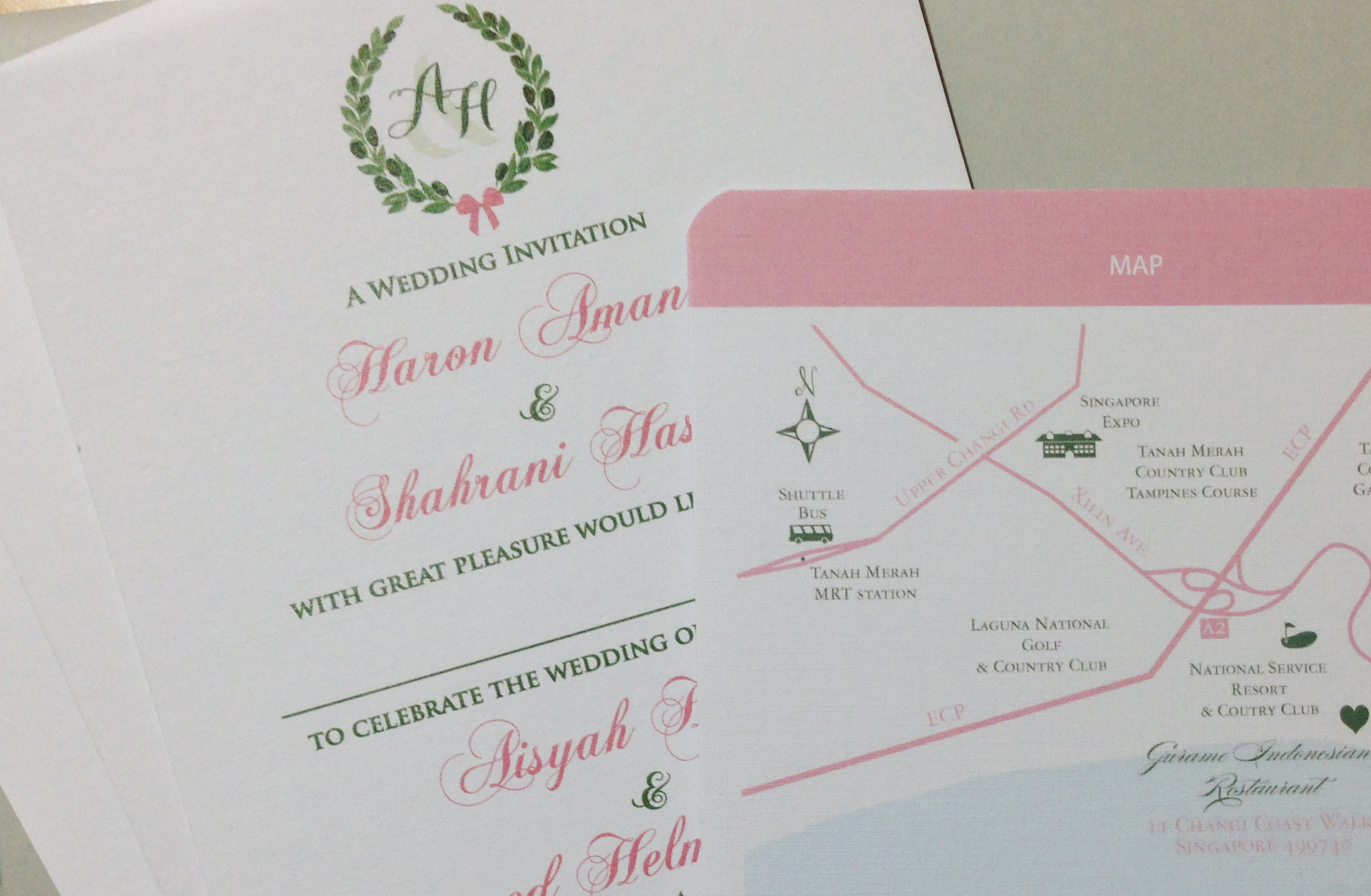 Aisyah Helmi Wedding Card